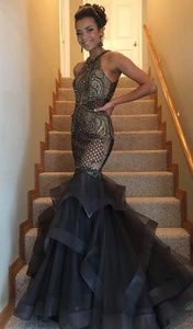 Jovani size 2 gunmetal dress